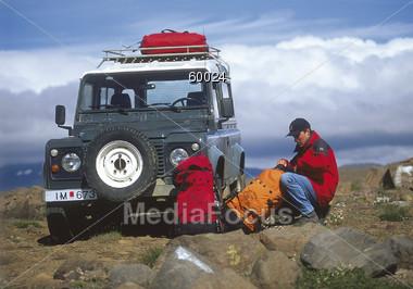 climbing mountain rock Stock Photo