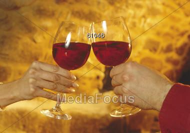 wine red symbol Stock Photo