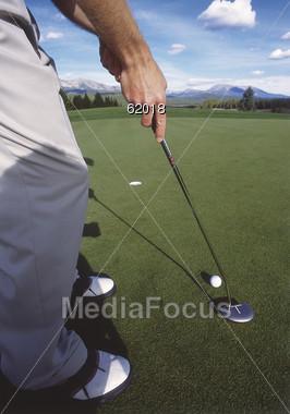 course golfing golfer Stock Photo