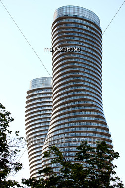 Absolute Towers Mississauga Toronto Marilyn Monroe Buildings Stock Photo