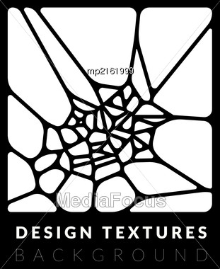 Abstact Voronoi Design Background. Geometric Vector Illustration Stock Photo