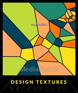 Abstact Voronoi Design Background. Geometric Vector Illustration Stock Photo