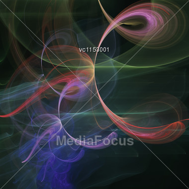 Abstract Art, Colourful Futuristic Background Stock Photo
