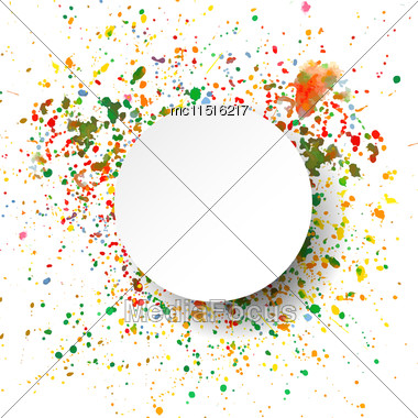Abstract Artistic Background With Watercolor Splash Vector Multicolored Background Stock Photo