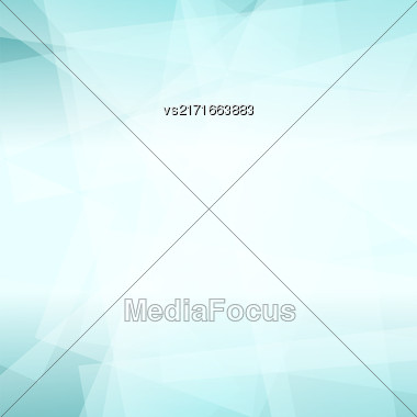 Abstract Azure Polygonal Background. Azure Geometric Pattern Stock Photo