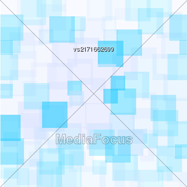 Abstract Azure Squares Background. Abstract Azure Squares Futuristic Pattern Stock Photo
