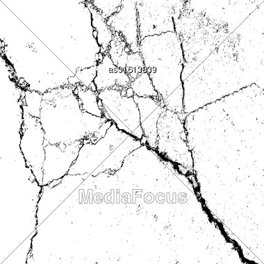 Abstract Background, Cracks On The Surface. Vector Illustration Stock Photo