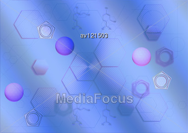 Abstract Background In The Form Of Honeycombs Stock Photo