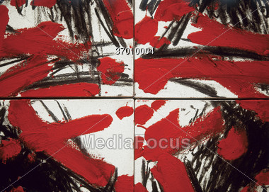 Abstract Background in Red, Black, White Stock Photo