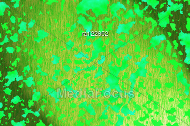Abstract Background With Green Pattern. Stock Photo
