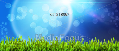 Abstract Backgrounds With Beautiful Bokeh And Lens Flare Stock Photo