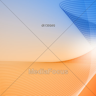 Abstract Backgrounds With Glowing Lines For Your Design Stock Photo