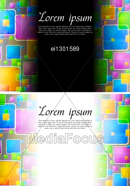 Abstract Backgrounds With Multicolored Squares Stock Photo