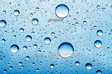 Abstract Backgrounds With Oil Drops Over Glass Stock Photo