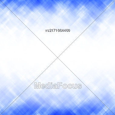 Abstract Blue Background. Square Mosaic Pattern. Template Design For Banner, Poster, Booklet, Leaflet Brochure Stock Photo