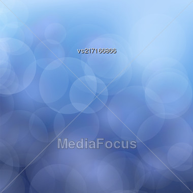 Abstract Blue Blurred Background. Christmas Defocused Pattern Stock Photo