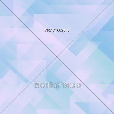 Abstract Blue Pattern. Geometric Blue Futuristic Background Stock Photo