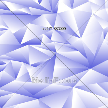 Abstract Blue Polygonal Background. Abstract Blue Polygonal Pattern Stock Photo