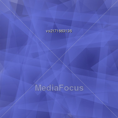 Abstract Blue Polygonal Background. Blue Geometric Pattern Stock Photo