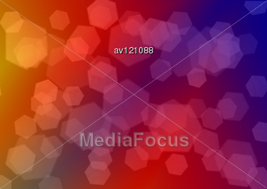 Abstract Bokeh Hexagonal Multicolored Background Creativity Illustration Stock Photo
