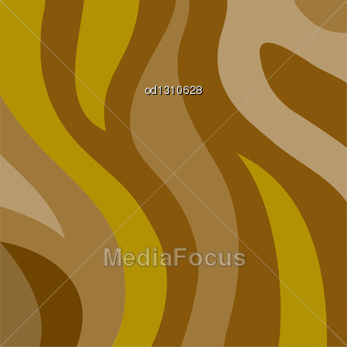 Abstract Brown Background Of The Broad Wavy Bands Stock Photo