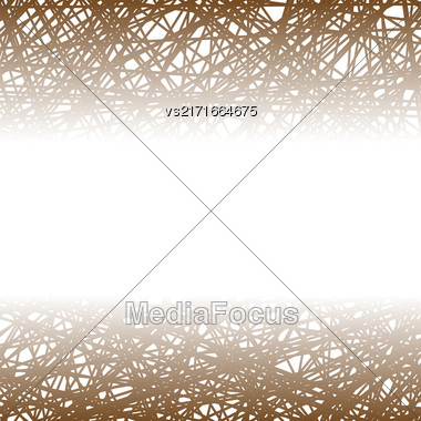 Abstract Brown Line Background. Grunge Brown Line Pattern Stock Photo