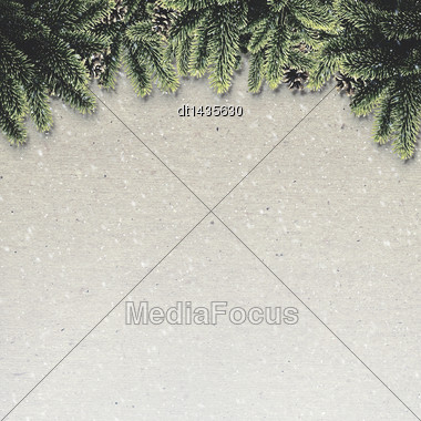 Abstract Christmas Backgrounds With Noel Decorations Over Old Cardboard Stock Photo