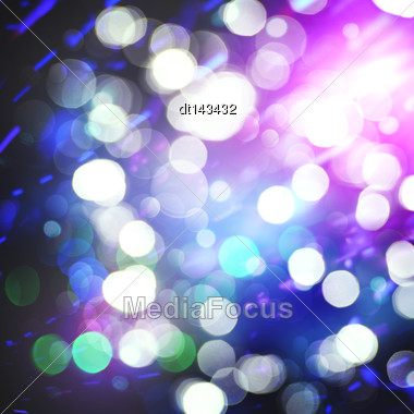 Abstract Christmas Backgrounds With Beauty Bokeh Stock Photo