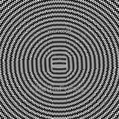 Abstract Circles Background. Black And White Geometric Striped Pattern Stock Photo
