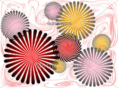Abstract Colored Background Of Radial Rays Patterns Stock Photo