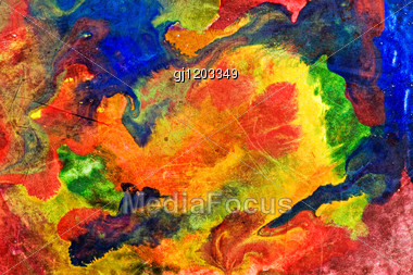 Abstract Colorful Background . Painted With Various Watercolors Stock Photo