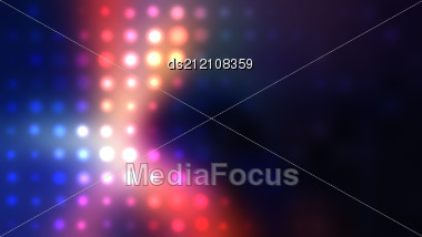 Abstract Colorful Background. Raster Dots Illustration. Stock Photo