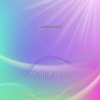 Abstract Colorful Blurred Background. Abstract Wave Pattern Stock Photo