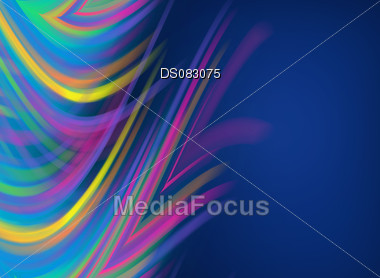 abstract colorful flares on blue raster background Stock Photo
