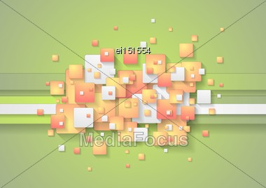 Abstract Colorful Squares Design. Vector Background Stock Photo