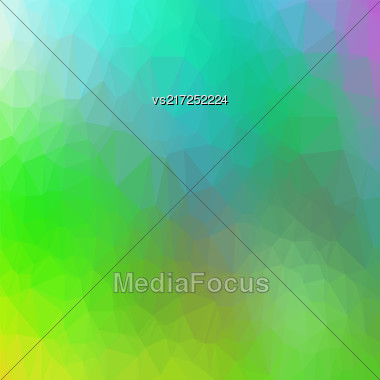 Abstract Colorful Triangle Background. Modern Mosaic Pattern. Template Design For Banner, Poster Stock Photo