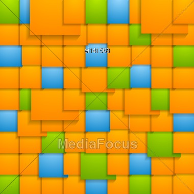 Abstract Colorful Vector Squares Design Stock Photo