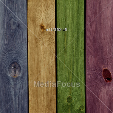 Abstract Colorful Wood Texture Background Stock Photo