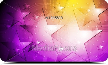 Abstract Colourful Background With Stars. Stock Photo