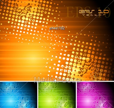 Abstract Colourful Grunge Backgrounds. Vector Illustration Eps 10 Stock Photo