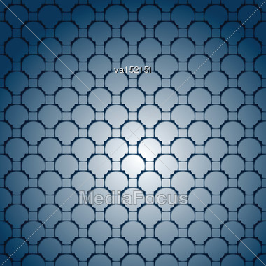 Abstract Dark Blue Repeating Background Vector Illustration Stock Photo
