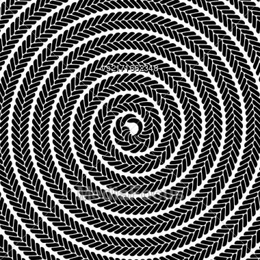 Abstract Dark Spiral Pattern. Abstract Black Spiral Background Stock Photo