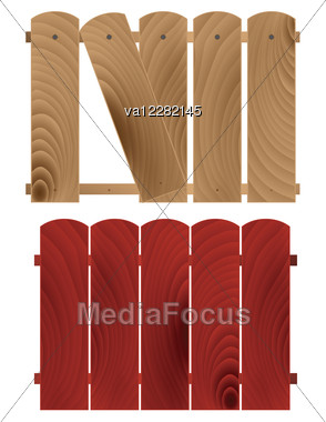 Abstract Detailed Wooden Textured Fences Stock Photo