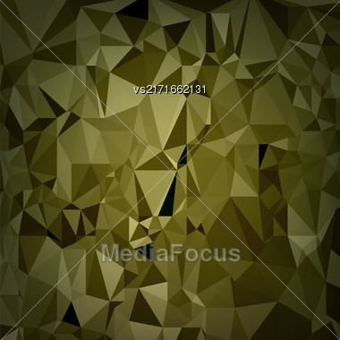 Abstract Digital Polygonal Brown Background. Abstract Triangular Pattern Stock Photo