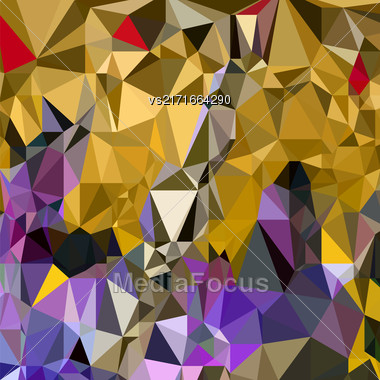 Abstract Digital Polygonal Colored Background. Abstract Triangular Pattern Stock Photo