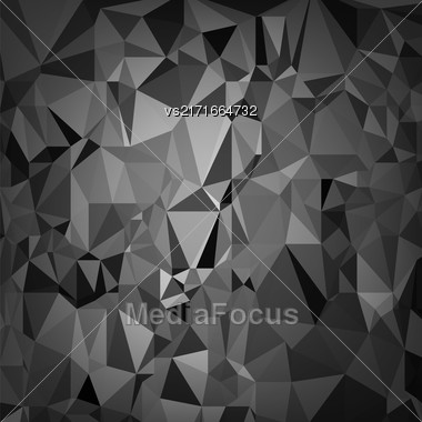 Abstract Digital Polygonal Grey Background. Abstract Triangular Pattern Stock Photo