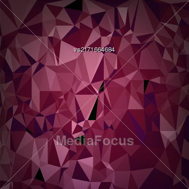 Abstract Digital Polygonal Red Background. Abstract Triangular Pattern Stock Photo