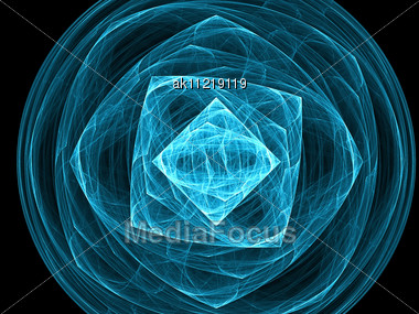 Abstract Elegance Background - Raster Fractal Graphics Stock Photo