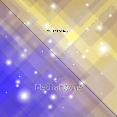 Abstract Elegant Blue Yellow Background. Abstract Blue Yellow Pattern Stock Photo