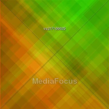 Abstract Elegant Green Orange Background. Abstract Green Orange Pattern Stock Photo
